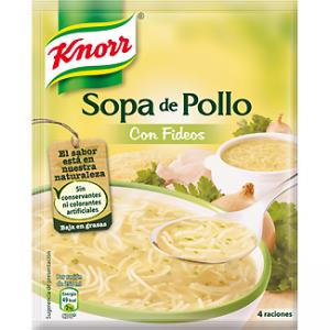 sopa,pan, salsas